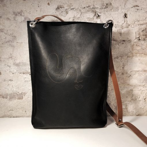 The LONDON city: leren tas met afbeelding Owned by